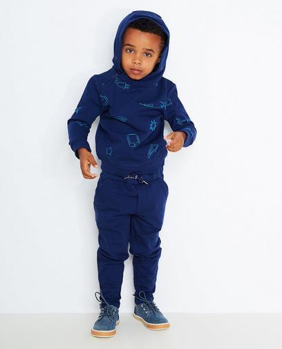 Hoodie bleu foncé